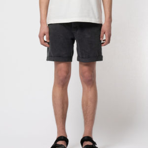 Nudie jeans Herren Shorts Josh Black Water
