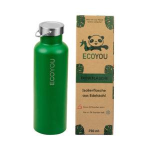 ECOYOU Edelstahl Isolierflasche 750 ml – Grün