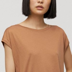 Armedangels Damen T-Shirt Jilaa dark caramel