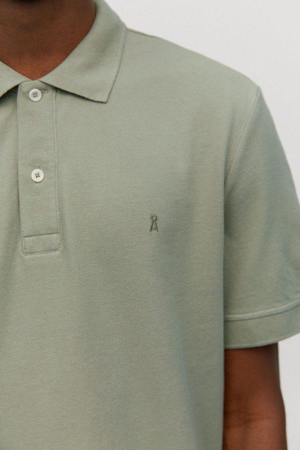 Armedangels Herren T-Shirt Aanton Solid Tea Green