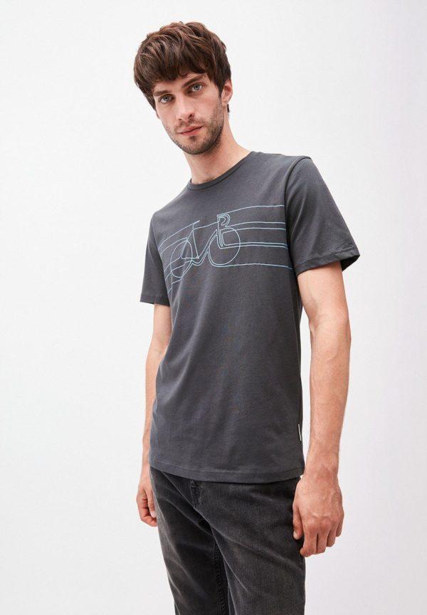 Armedangels Herren T-Shirt Jaames Smooth Bike acid black