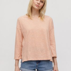 Armedangels Damen Longsleeve Siaa Pretty Stripes starfish-off white
