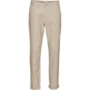 KnowledgeCotton Herren Hose Chuck regular linen 70261 light feather grey