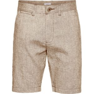 KnowledgeCotton Herren Shorts Chuck regular linen light feather grey 50205