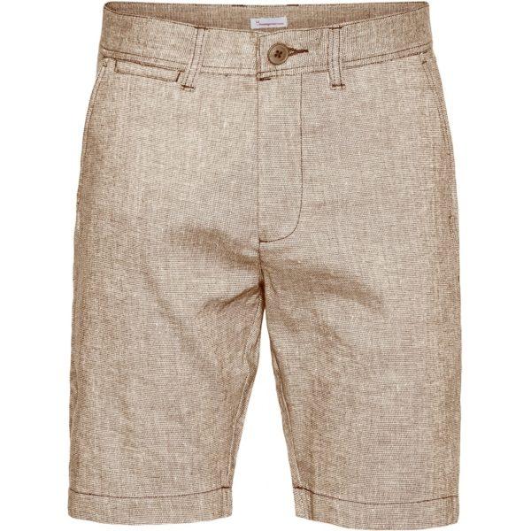KnowledgeCotton Herren Shorts Chuck regular linen light feather grey 50205