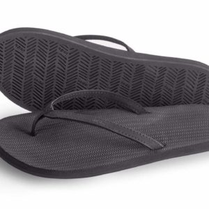 Indosole Damen Flip Flop Black