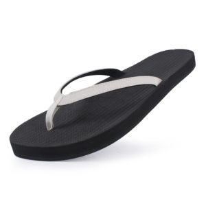 Indosole Damen Flip Flop Black/Sea Salt