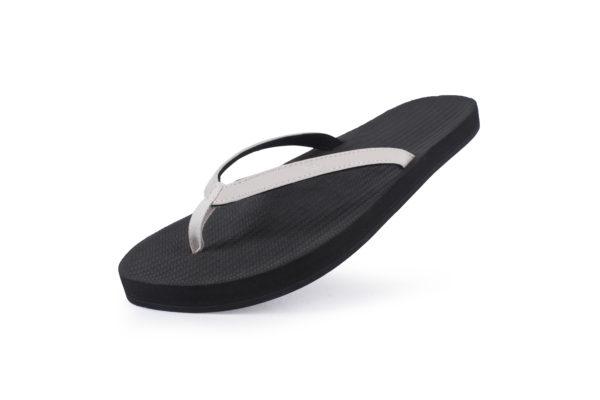 Indosole Damen Flip Flop Black/Sea Salt