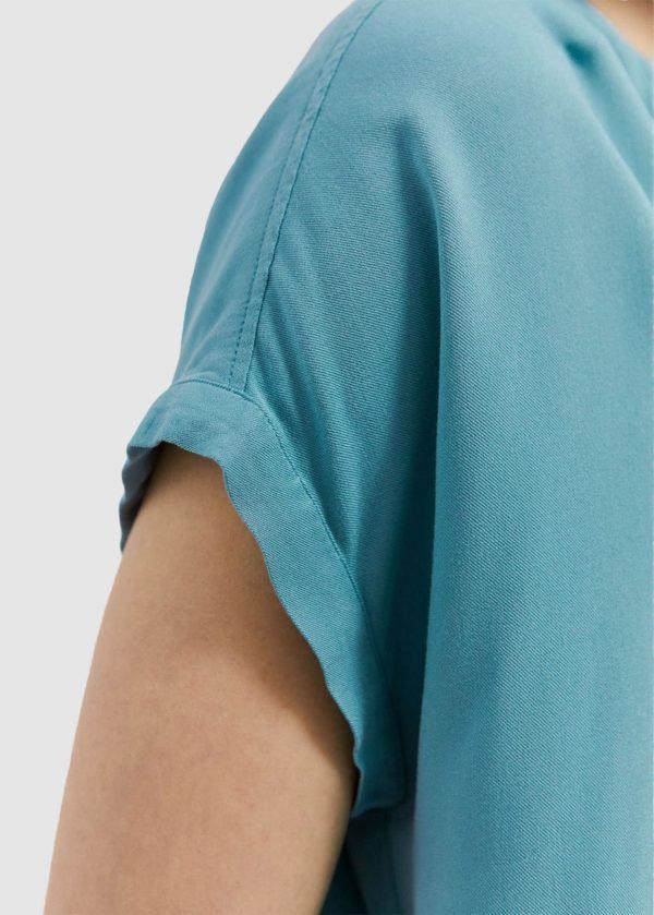 Armedangels Damen Kleid Niaraa teal blue