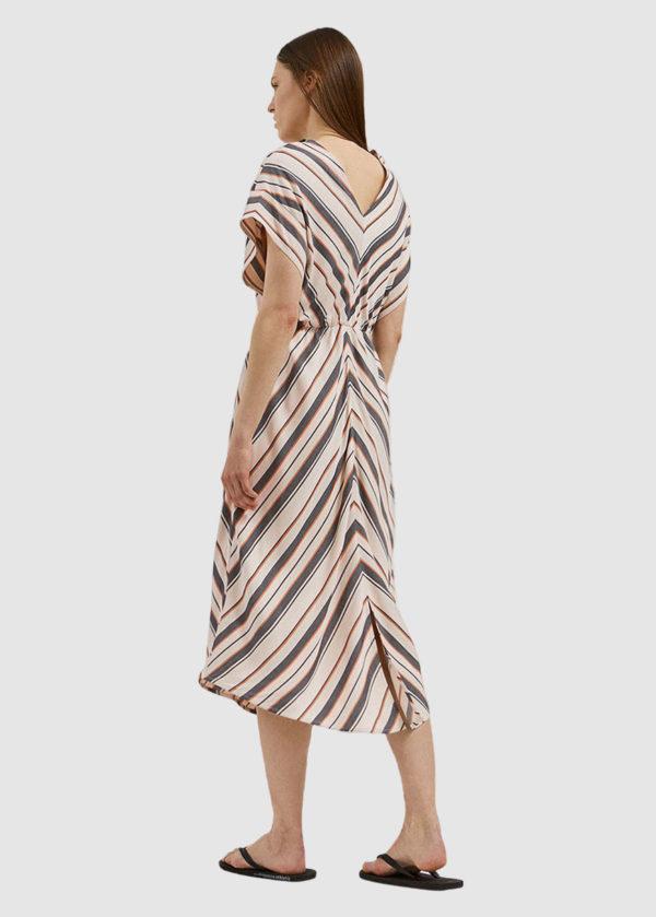 Armedangels Damen Kleid Xeniaa Multistripes