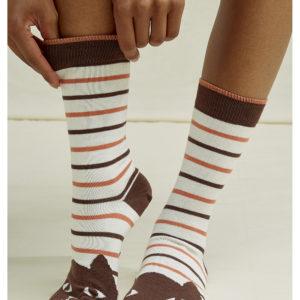 People Tree Unisex Socken Cat Striped