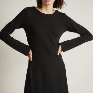 Lanius Damen Kleid Tencel 12769 black