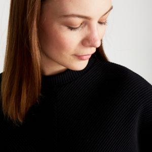 Stoffbruch Givn Damen Pullover Wilma black (Rib)