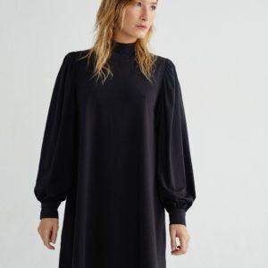 Thinking Mu Damen Kleid Flora Black