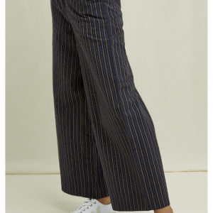 People Tree Damen Hose Mila Striped Navy Multi