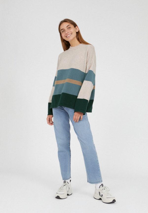 Armedangels Damen Pullover Gretaa Block Stripes