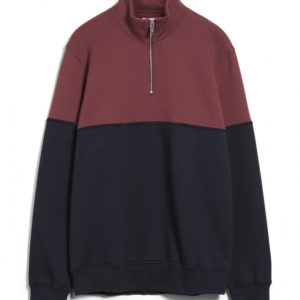 Armedangels Herren Pullover Raalph Twotone depth navy-sable red