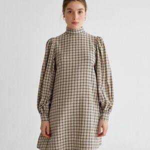 Thinking Mu Damen Kleid Flora Small Checks