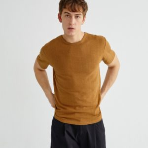 Thinking Mu Herren Basic Caramel Hemp T-Shirt