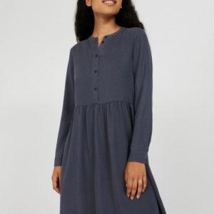 Armedangels Damen Kleid Hallaa anthra