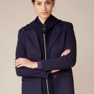Lana Organic Damen Blazer Eveline 2703 Finette Navyblue – Schwarz