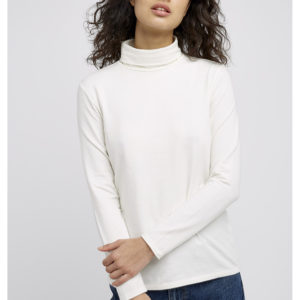 People Tree Damen Longsleeve Laila Roll Neck white