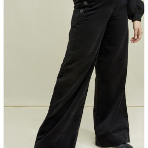 People Tree Damen Hose Caren Velvet Black
