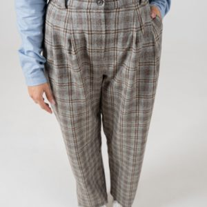 NÄZ Damen Hose Sines Grey Check