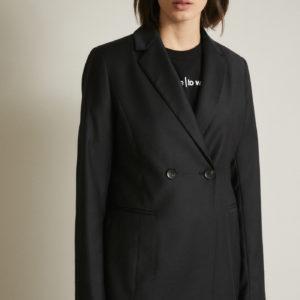 Lanius Damen Blazer aus Schurwolle black