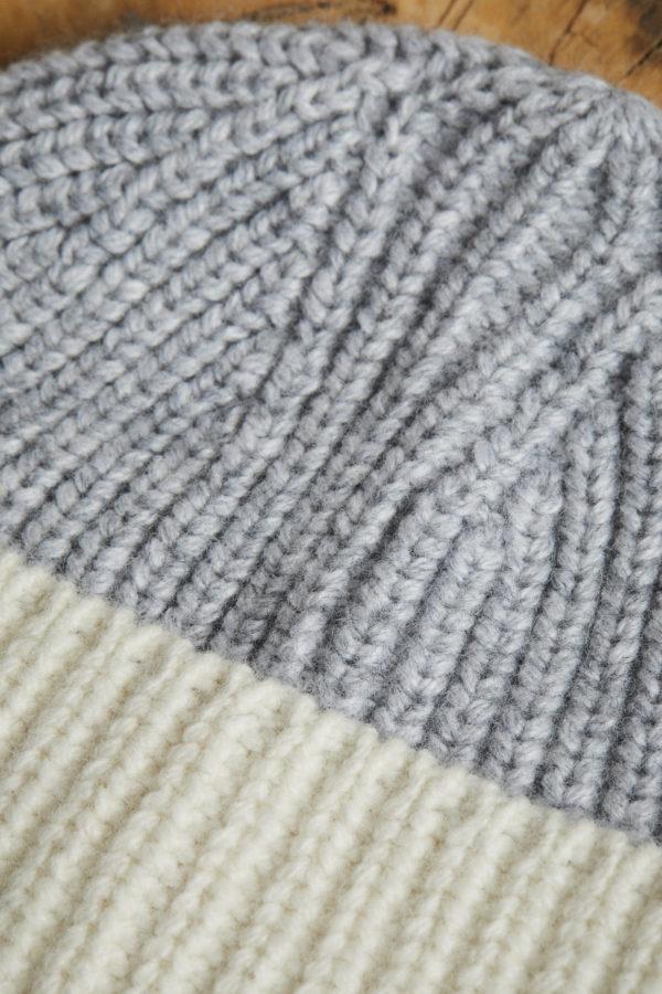 Lanius Damen Mütze Colourblock off white/light grey melange