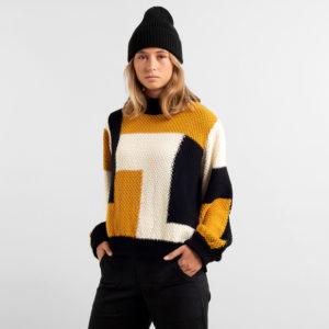 Dedicated Damen Pullover Rutbo Blocks Multi Color
