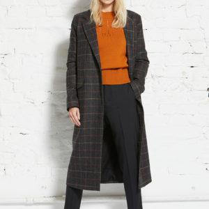 Wunderwerk Damen Mantel Oversize Long Coat Check