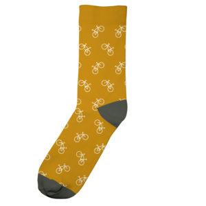 Dedicated Unisex Socken Sigtuna Bike Pattern golden yellow