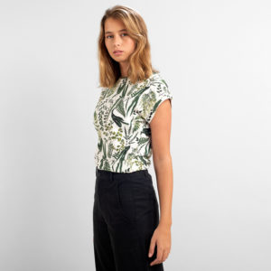 Dedicated Damen T-Shirt Visby Garden off white