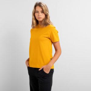 Dedicated Damen T-Shirt Mysen Base Golden Yellow