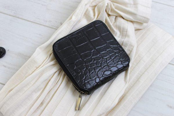 O My Bag Geldbörse Sonny Square Wallet Croco Black