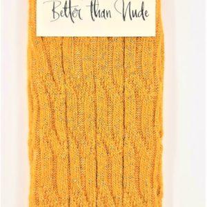 Better than Nude Damen Socken BTN353 mustard