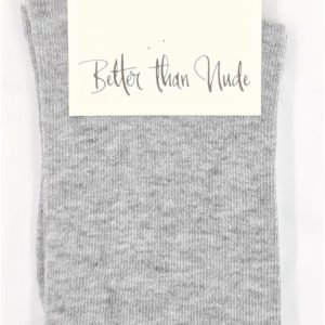 Better than Nude Damen Socken Glam Basic BTN302 grey melange