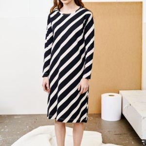 Papu Damen Kleid Mellow Huge Stripes AOP