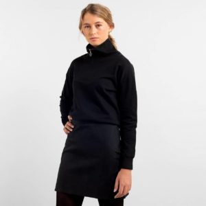 Dedicated Damen Pullover Halfzip Mariestad Black