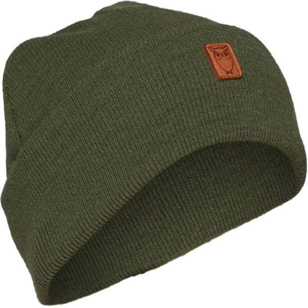KnowledgeCotton Herren Mütze Beanie Original Wool 82206 Green Forest