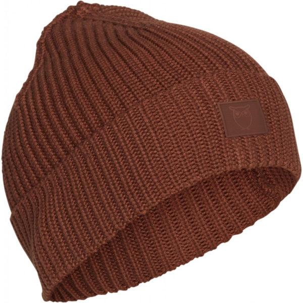 KnowledgeCotton Herren Mütze Ribbing Hat 82214 Friar Brown