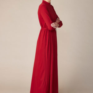 Lana Organic Damen Kleid Christella 4224 Red Dahlia