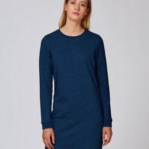 Stanley&Stella Damen Kleid Stella Kicks Black Heather Blue