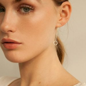 Wild Fawn Ohrstecker Pebble Chain Drop Studs