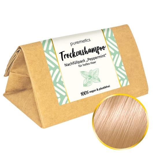 Puremetics Trockenshampoo Nachfüllpack Peppermint (für helles Haar)
