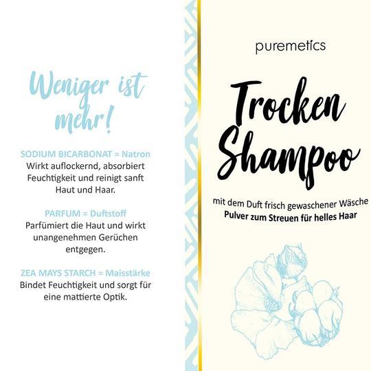 Puremetics Trockenshampoo Nachfüllpack Clean Cotton (für helles Haar)
