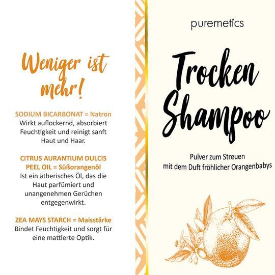 Puremetics Trockenshampoo Nachfüllpack Orange (für helles haar)