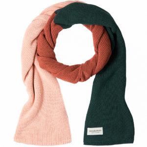Recolution Knit Scarf Tricolor rose/warm orange/green