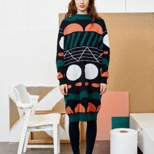 Papu Damen Kleid Polo Knit Dress Multicolor
